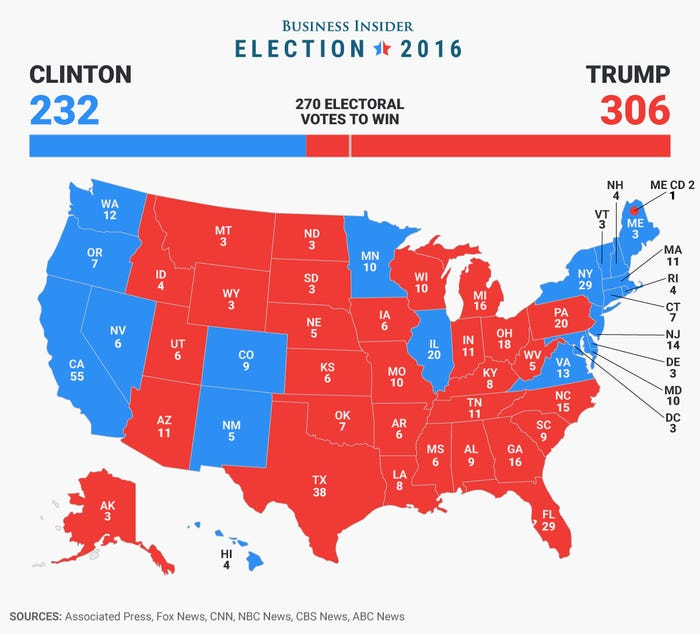 2016 Electoral Map
